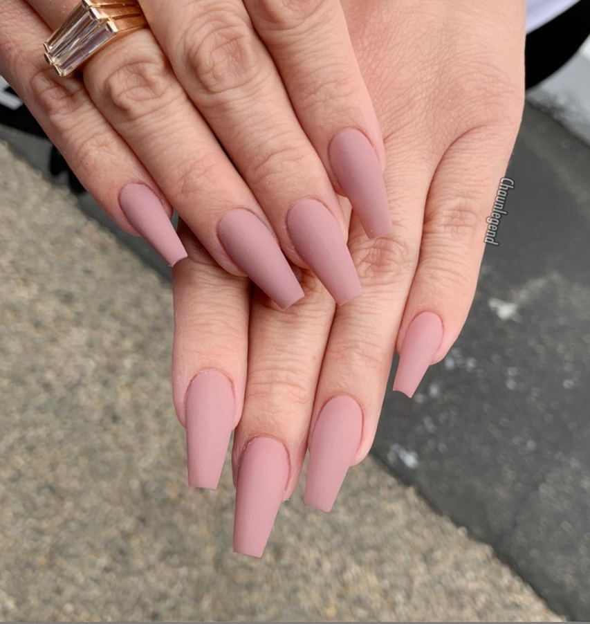 30 Natural Matte Coffin Nails Design With Different Colors For Spring Summer In 2020 With Images Matte Acrylic Nails Casket Nails Coffin Nails Matte