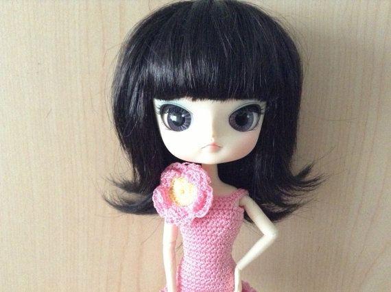 Dress crochet  F L O W E R  for Dal doll