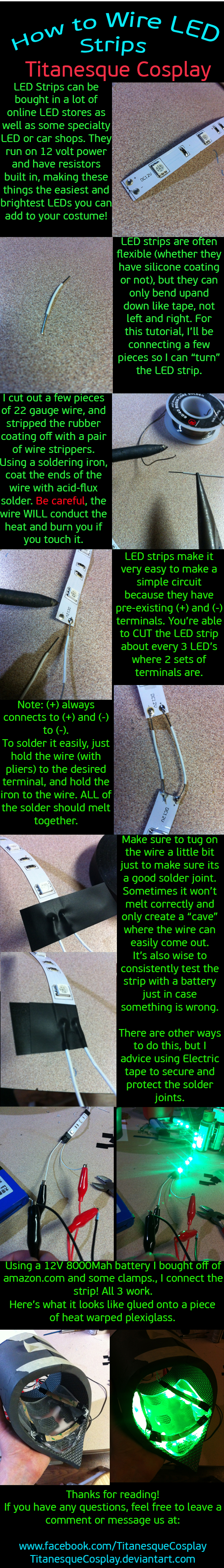 How to wire LED Strips by TitanesqueCosplay.deviantart.com on ...