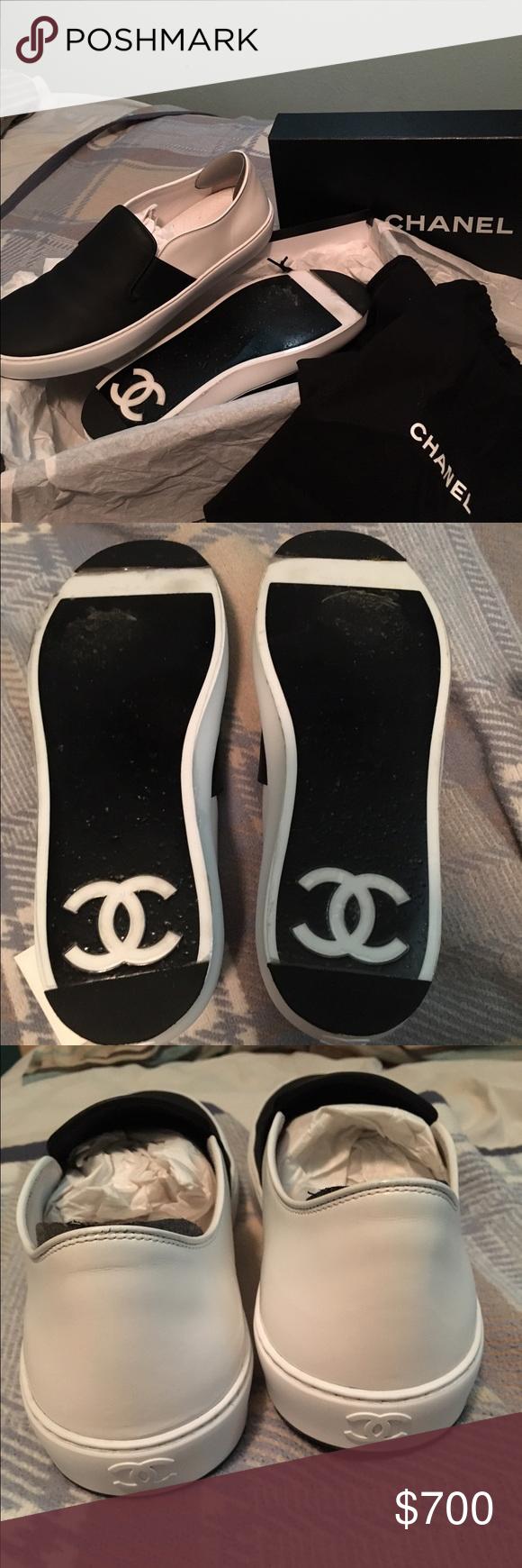 Size 43(10US) Chanel unisex slip-on