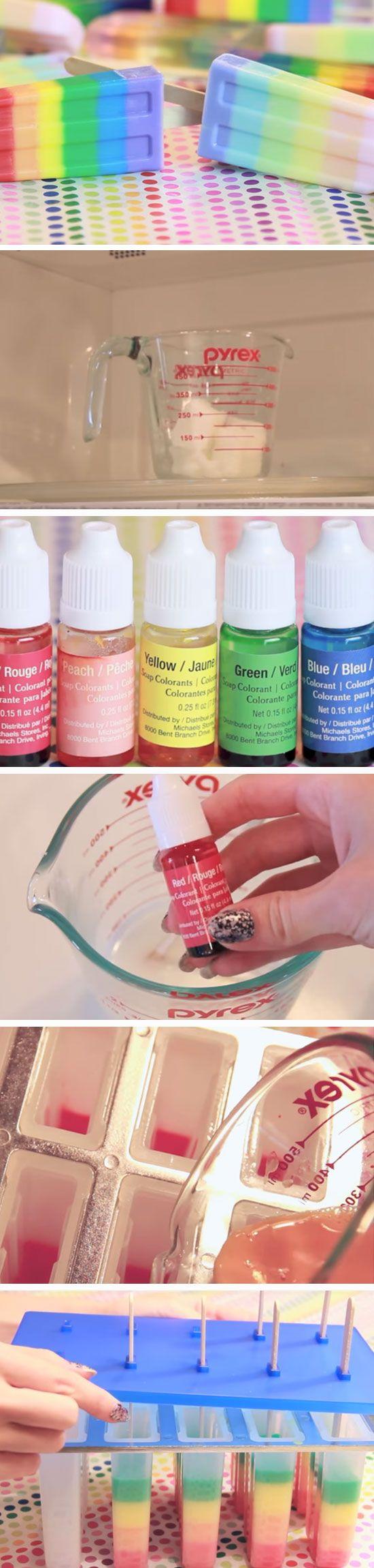Rainbow Soap Popsicle