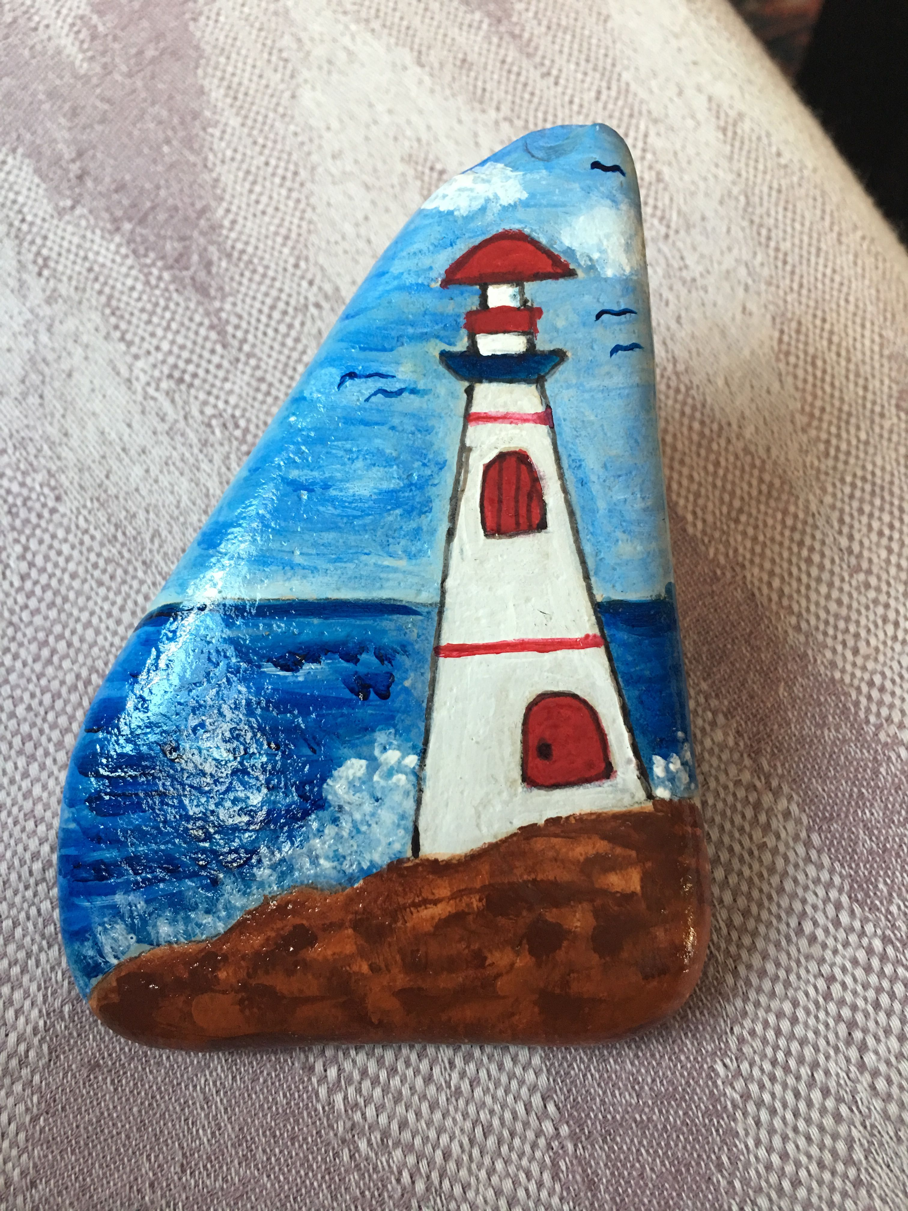 Tas Boyama Deniz Feneri Goruntuler Ile Deniz Feneri Sanat Taslar