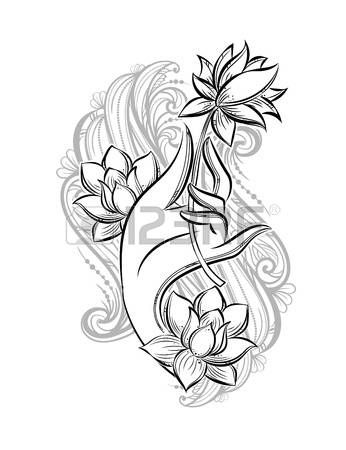 Lotus flower tattoo designs buddha hand holding a lotus as a symbol lotus flower tattoo designs buddha hand holding a lotus as a symbol of purity spirituality and enlightenment hand drawn vector isolated tattoo mightylinksfo