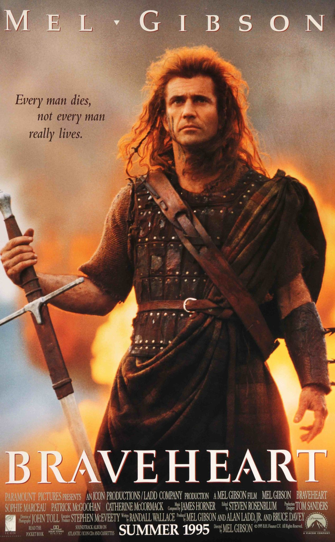 Braveheart (1995) Vintage Advance Movie Poster - 27\