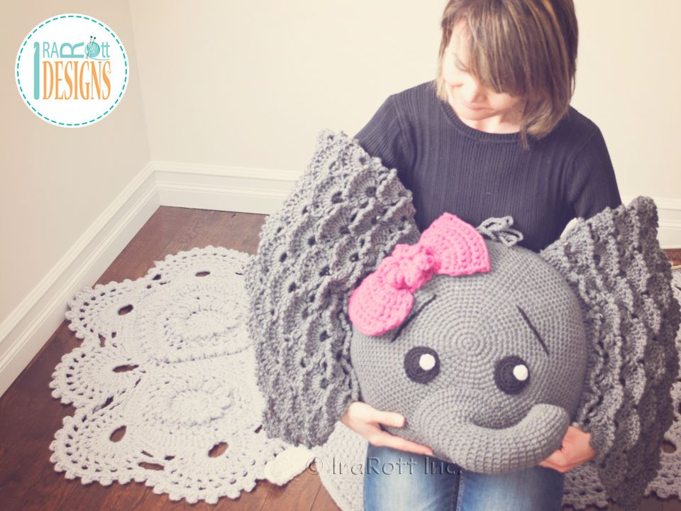 Josefina And Jeffery Elephant Pillow Pdf Crochet Pattern In 2018