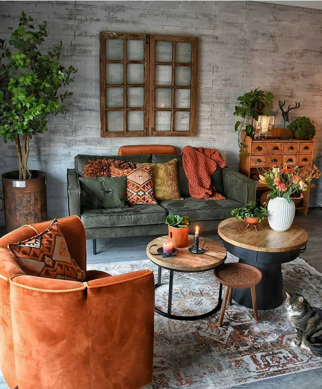 If Your Living Room Is Cramped And Cluttered The Last Thing You Ll Want To Do Is Hang Out There Bu Modern Bohemian Living Room House Interior Apartment Decor Warm living room decor