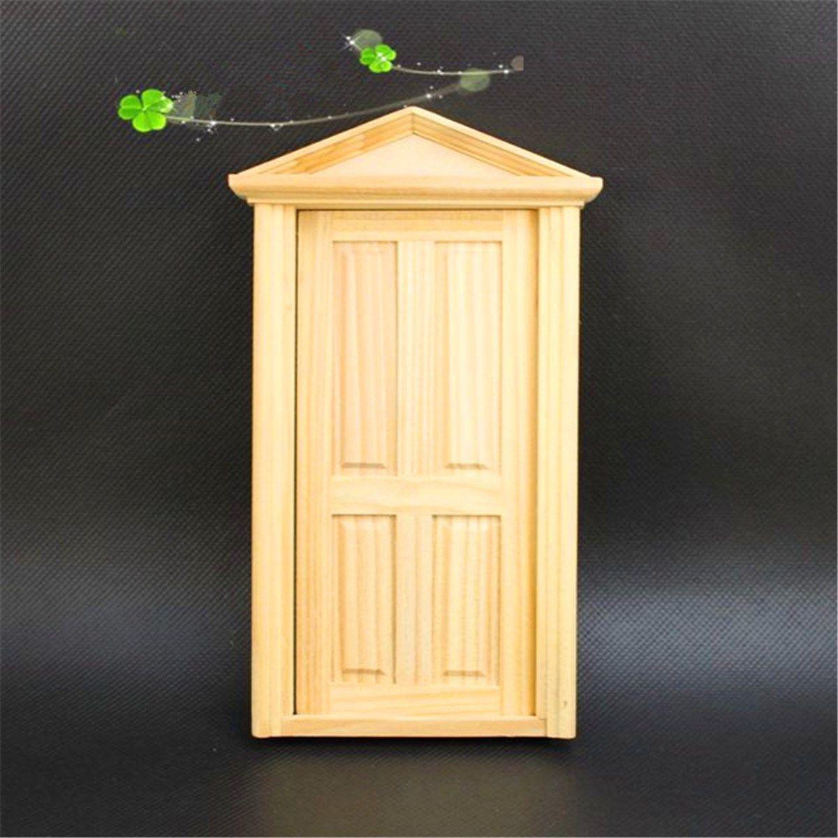 DIY Handmade Miniature 4 Panel Wooden Classical Exterior Door ...