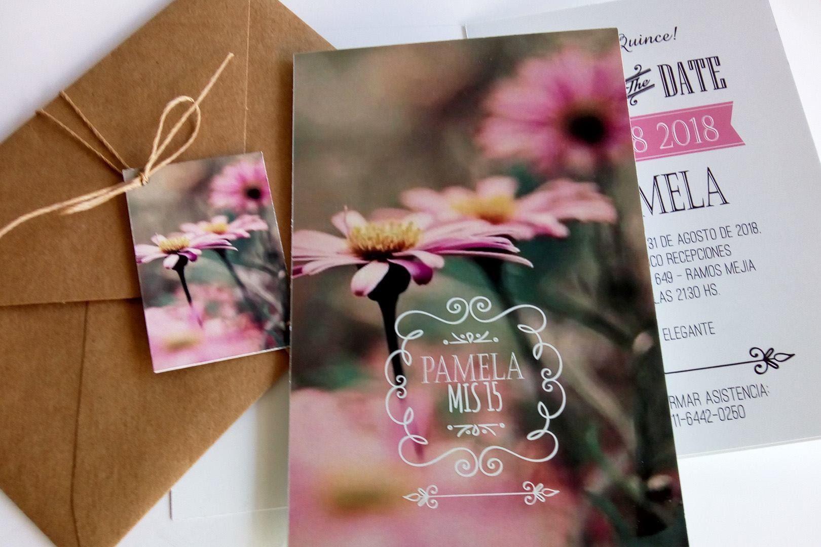 Invitación Tipo Libro Con Sobre En Papel Misionero Con