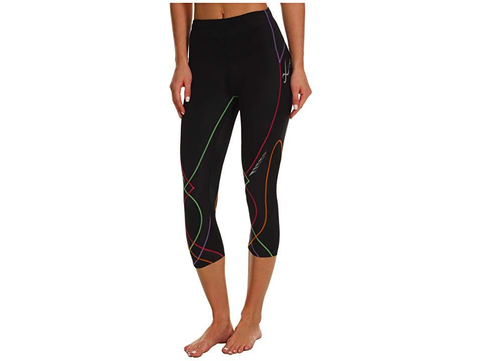 CWX Stabilyxtm 34 Tight BlackRainbow Stitch Womens Workout Stabilize yourself throughout your next run in this supportive CWX tight Coolmax fabric moves perspiration away...