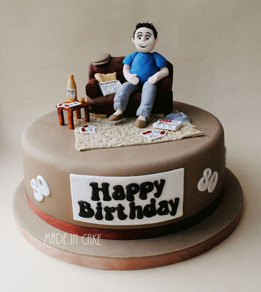 Amazing Beer Whiskey Betting Sofa Birthday Cake With Images Dad Funny Birthday Cards Online Alyptdamsfinfo