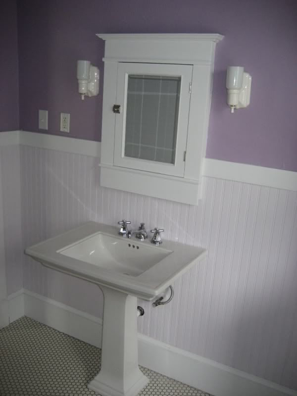 I Like The Sconces, Pedestal Sink, Floor, And The Cabinet. Find This Pin  And More On Bathroom 1920u0027s Style ...