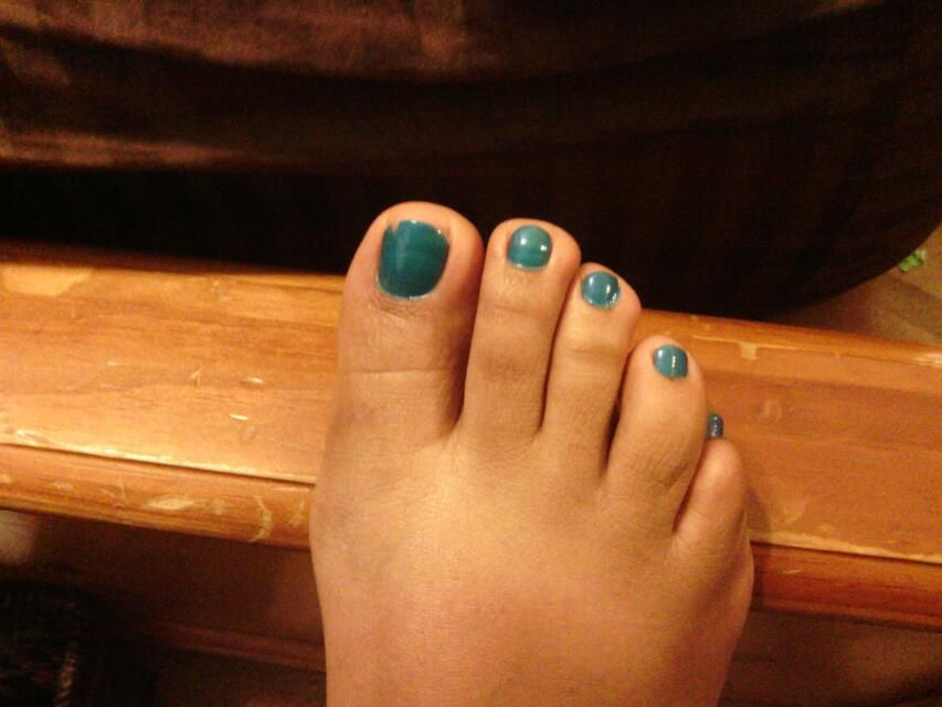 My toes done on 6/8/12
