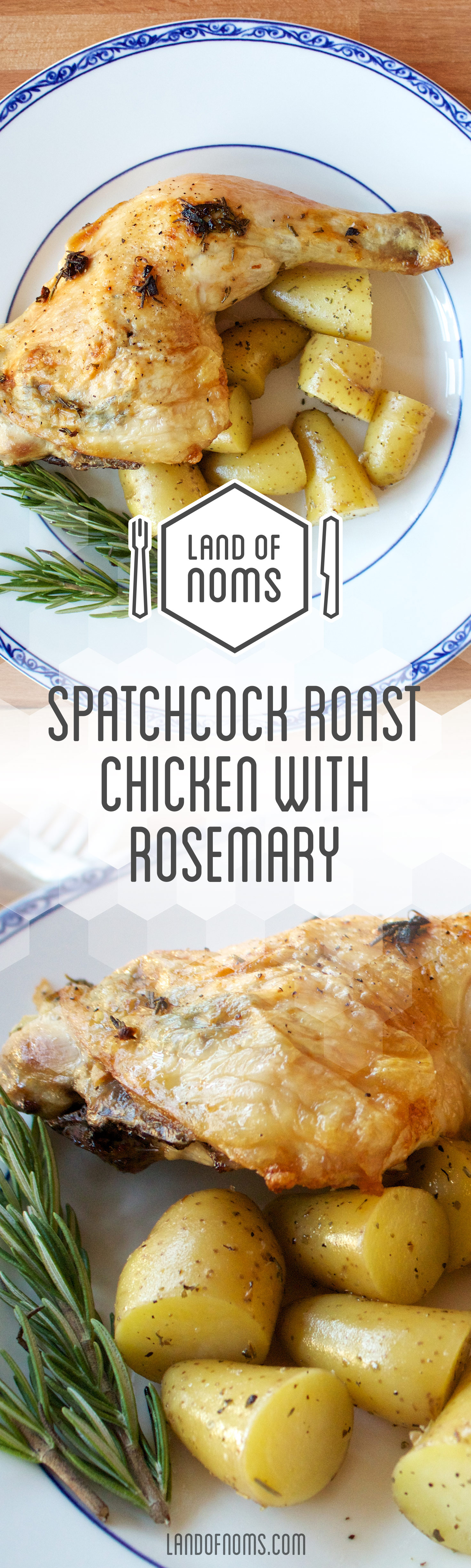 The secret to quickly cooking an entire bird, #spatchcocking! This #roast #chicken #recipe is delicious!