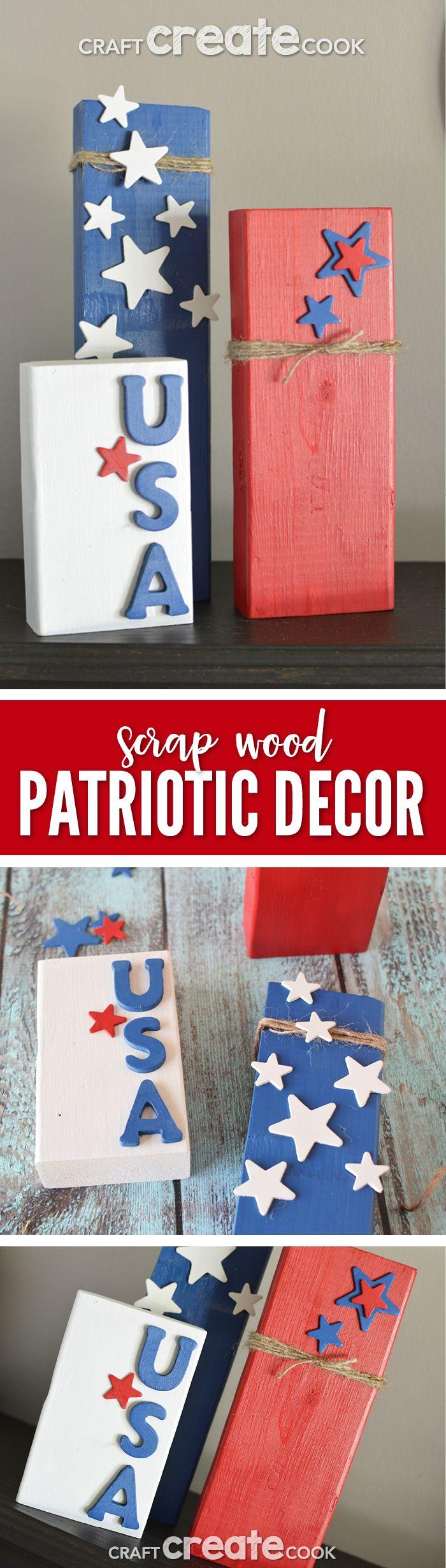 Patriotic Decorations Part - 46: Patriotic Decorations To Make With Scrap Wood