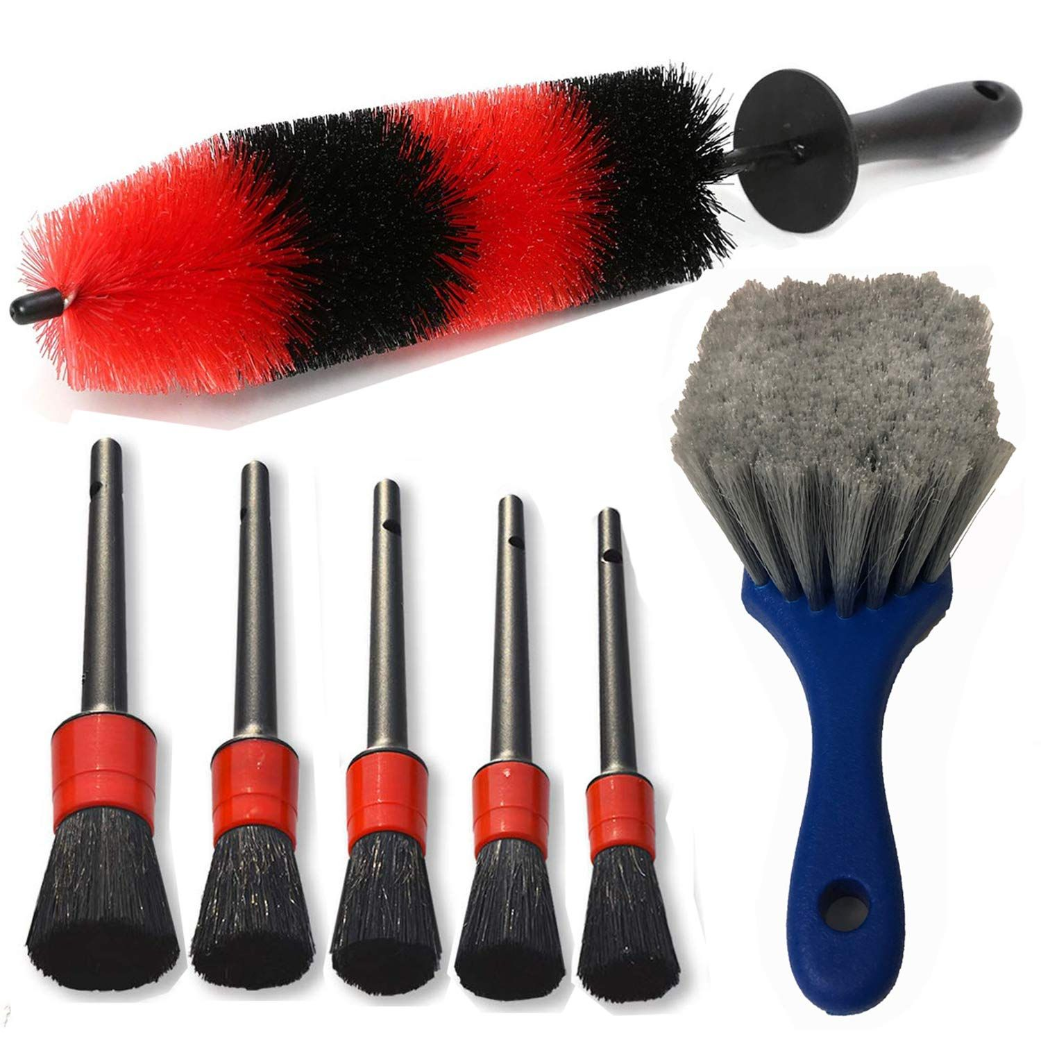 7Pcs Wheel and Tire Brush , car detailing kit , 17inch