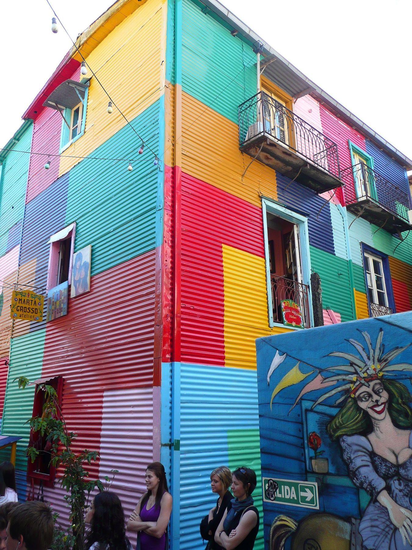 Colorful Building In La Boca Argentina Argentina Pinterest  # Muebles Lola Mora Bahia Blanca