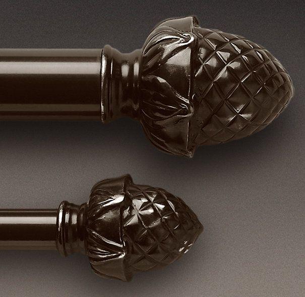 Classic Pineapple Finial Rod Set Bronze Vorhangschiene