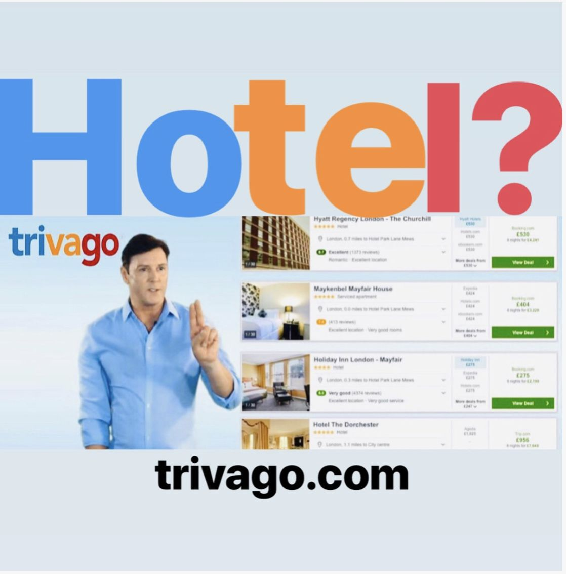 Sean Borg In Trivago Advertisement Usa Trivago Hotel Trivago