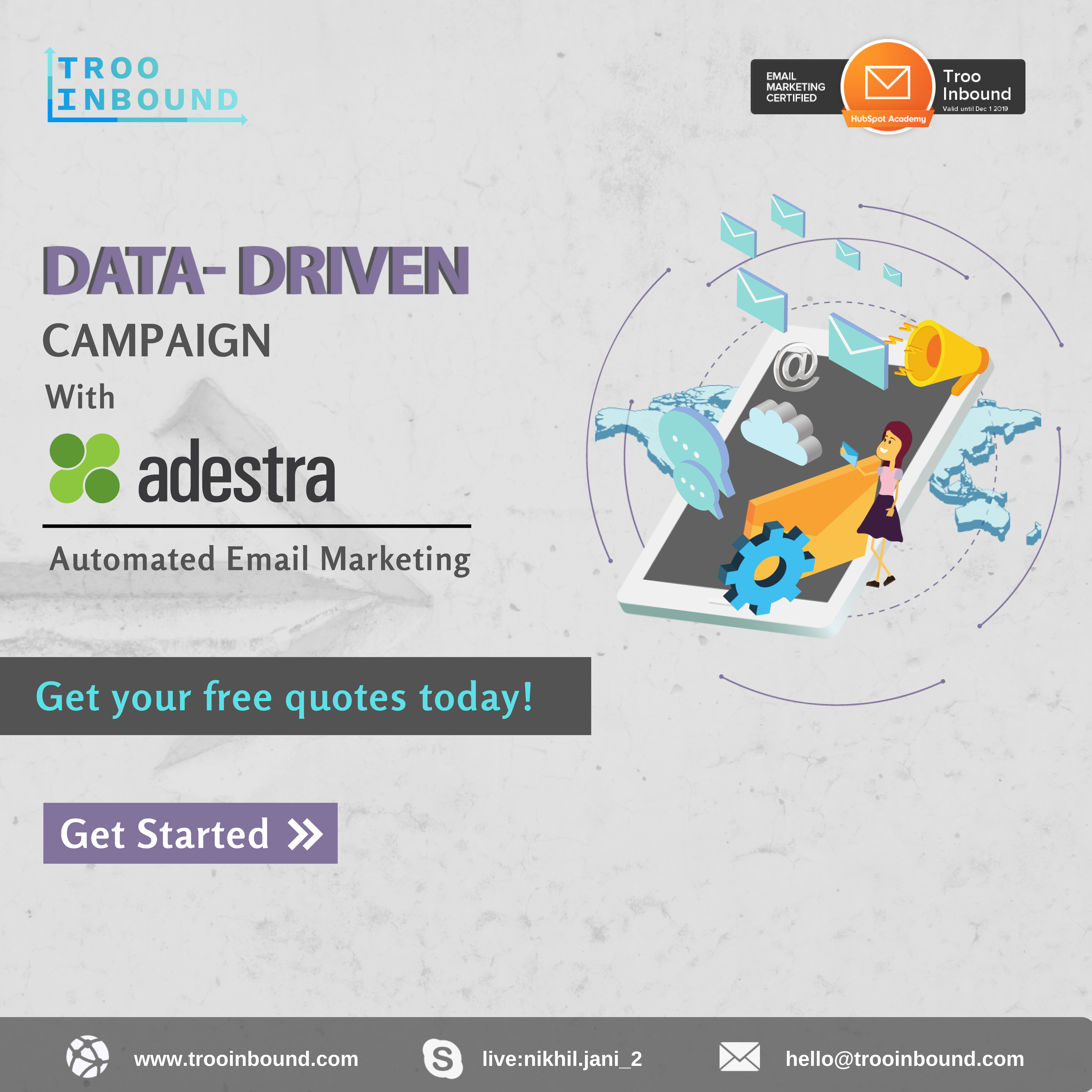 Integration with Adestra will empower email-driven your