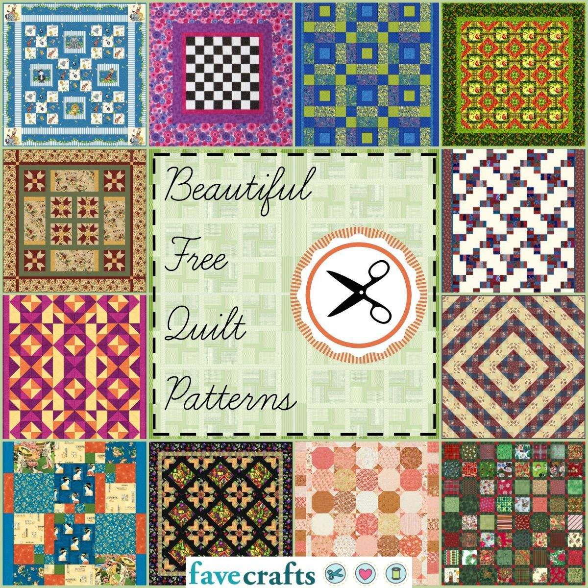 38 Free Quilt Patterns | Telas patchwork, Colchas y Edredones