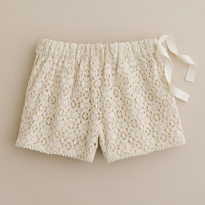 Girls' cotton lace short - solids - Girls' shorts - J.Crew