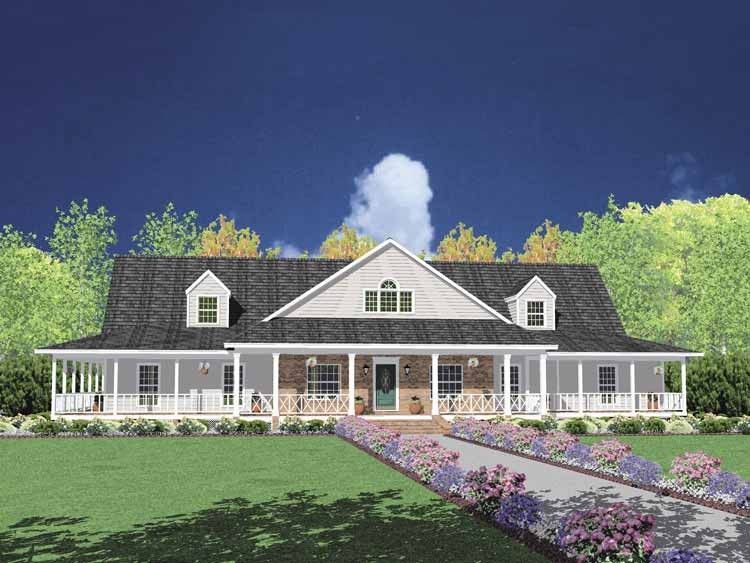 1 story eplans farmhouse house plan farmhouse with porch for entertainment 3388 square feet and 4 bedrooms from eplans house plan code hwepl61697