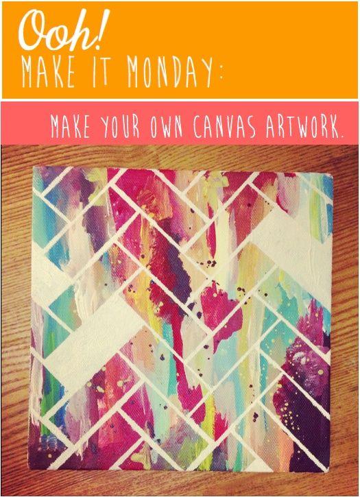 D I Y Canvas Artwork Ooh Like That Art Ideas For Teens Diy