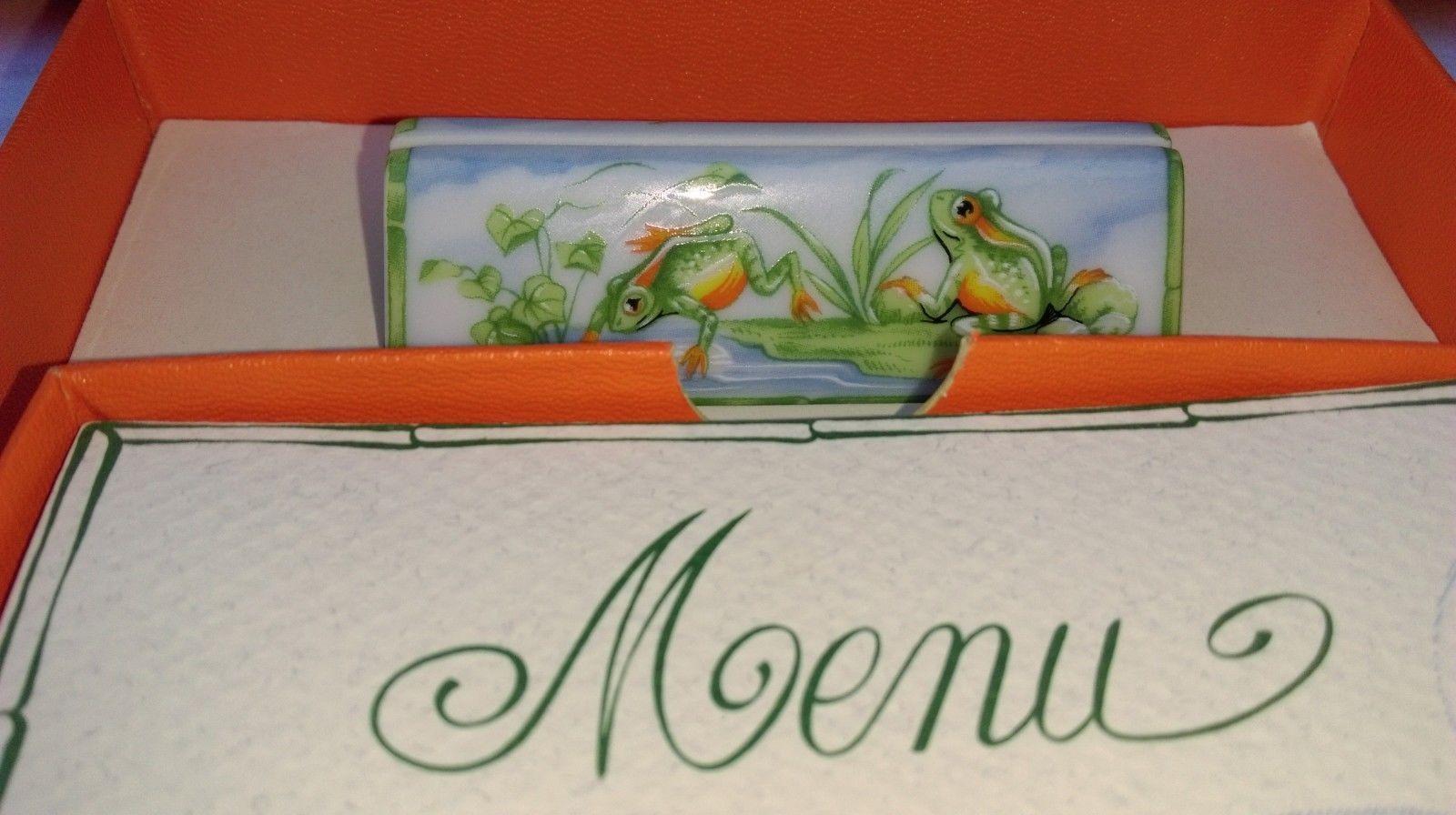 Paire de porte-menus HERMÈS pour MASS MEDIA neuf jamais servi boîte  d origine 665f4d59d3f