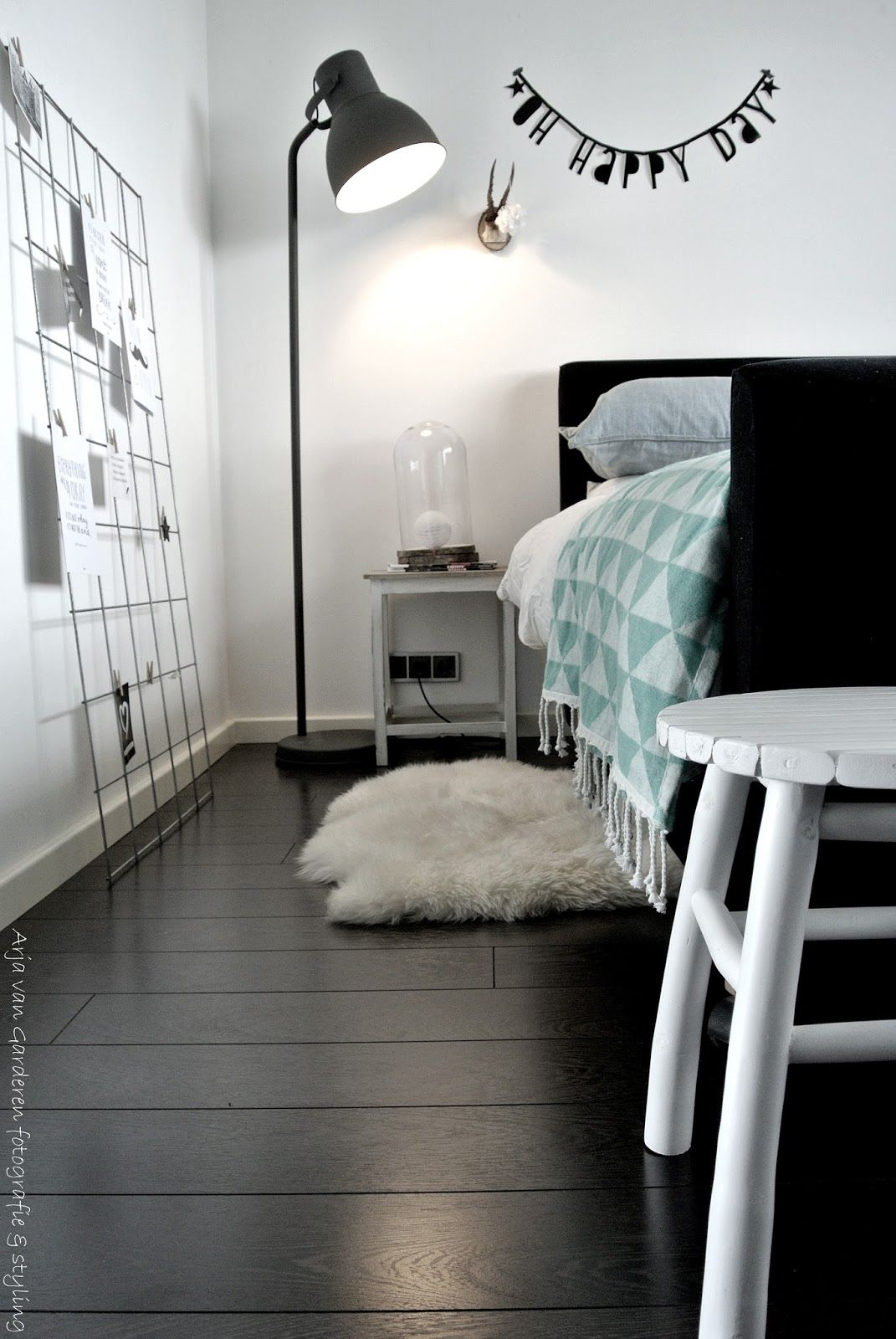 Zwart, wit & hout: Onze slaapkamer | homeStyle | Pinterest | Girl ...
