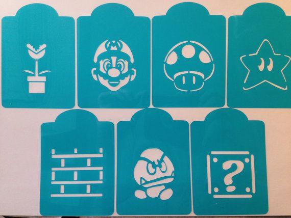 Mario Bros Video Game Nintendo Inspired Cookie Stencil