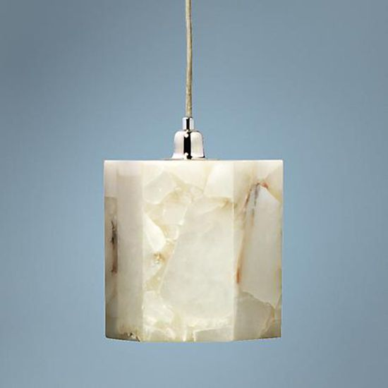 Alabaster Mini Pendant Light In A Hexagonal Shape With Lampsplus
