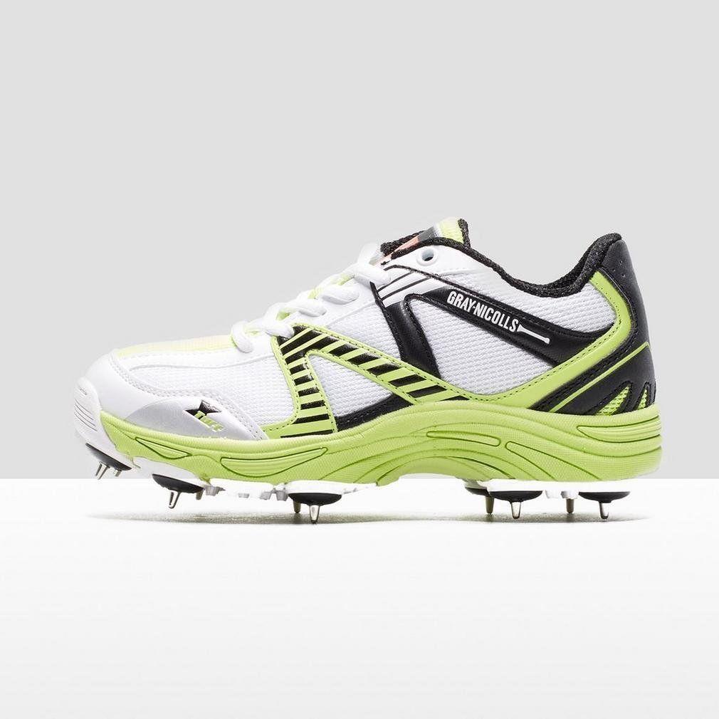 Junior uk 3 gray #nicolls #velocity #cricket shoes spikes boots boys kids am