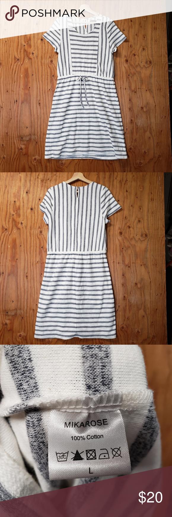 Striped Casual Midi Dress Midi Dress Casual Midi Dress Mikarose Dress [ 1740 x 580 Pixel ]