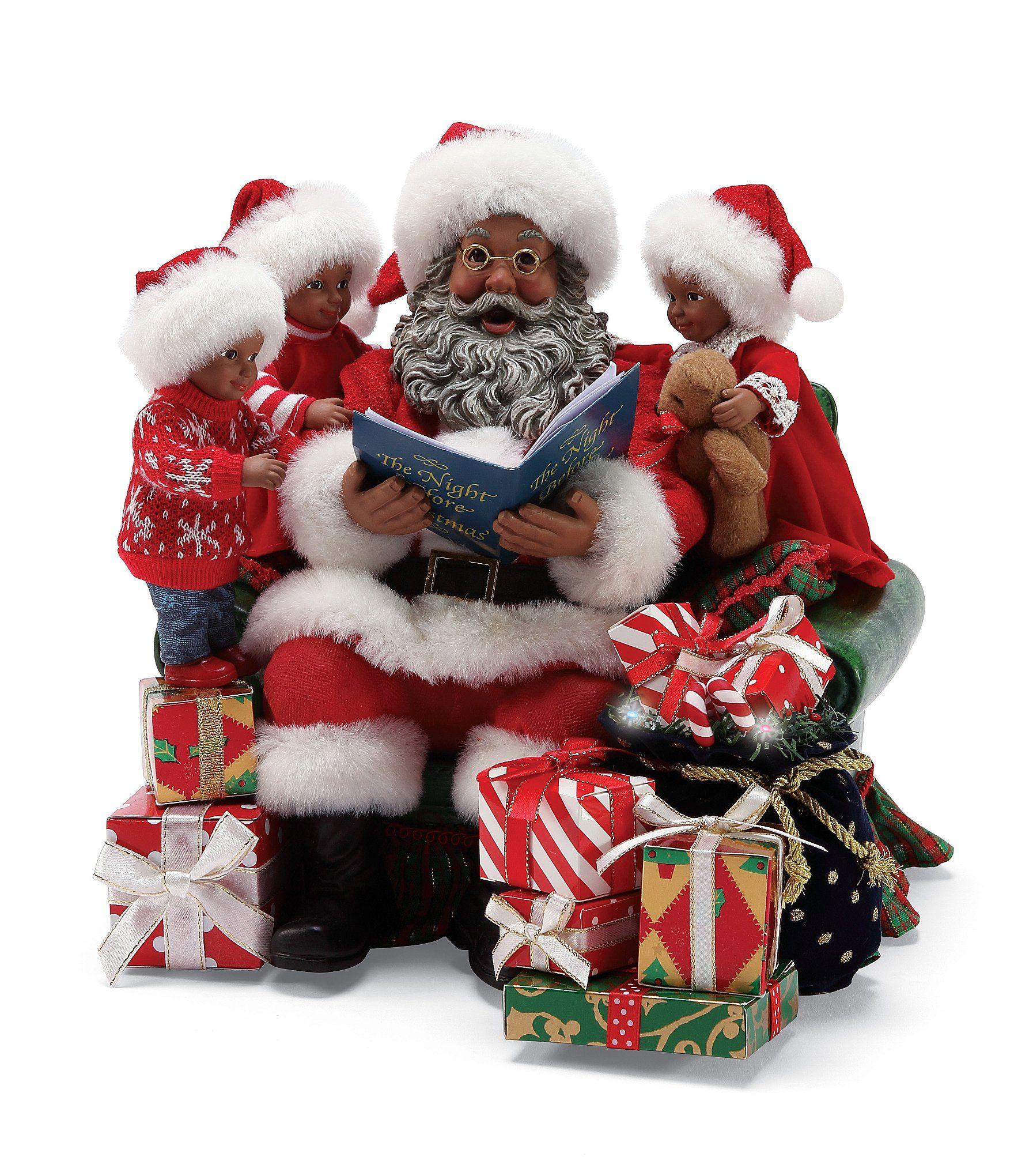 Possible Dreams A Visit From St Nick African American Santa Figurine Dillards Black Christmas Decorations Santa Figurines Santa Claus Wallpaper