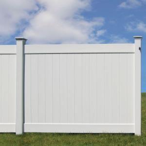 Veranda Linden 6 Ft H X 8 Ft W White Vinyl Pro Privacy Fence