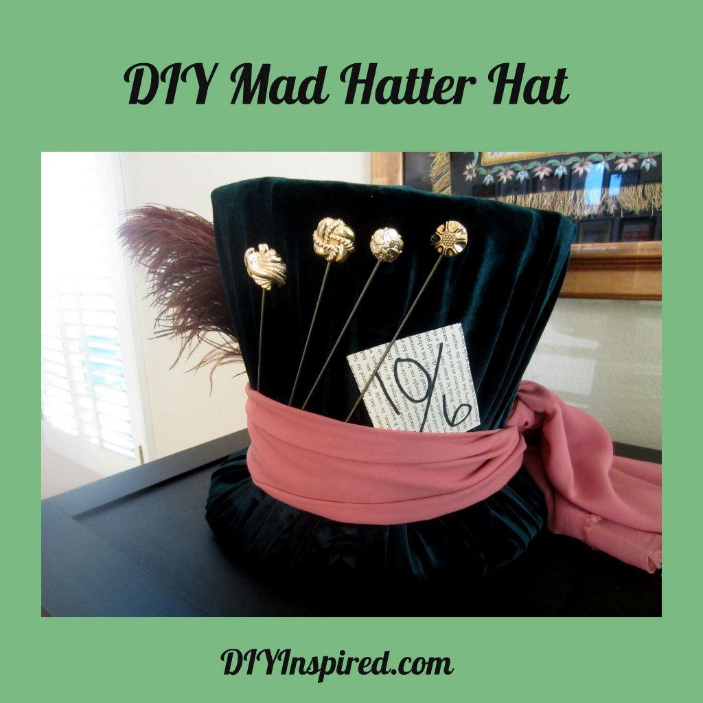 Diy Mad Hatter Top Hat Halloween Costume Ideas Pinterest