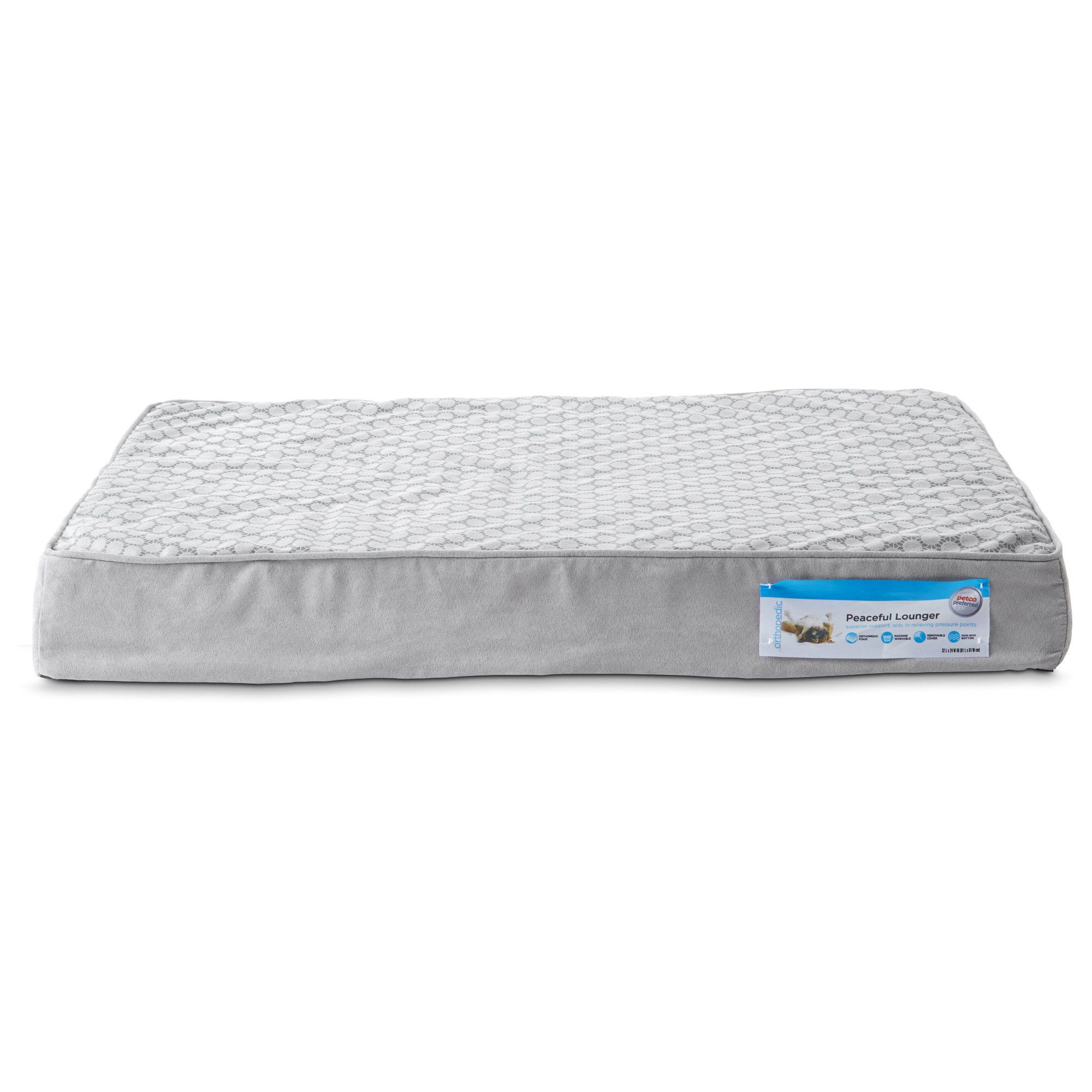 """Petco+Peaceful+Lounger+Orthopedic+Dog+Bed+-+Petco+Peaceful+Lounger+Orthopedic+Dog+Bed,+32""""+L+x+24""""+W - http://www.petco.com/shop/en/petcostore/petco-peaceful-lounger-orthopedic-dog-bed"""