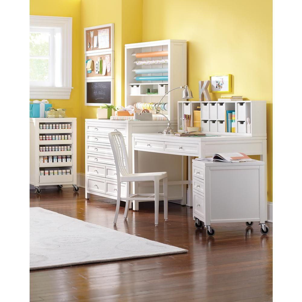 Craft Space Picket Fence Desk, White