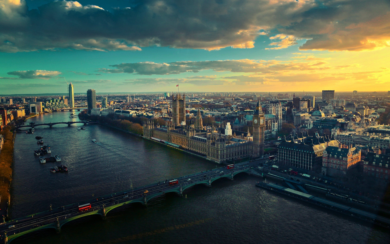 Обои dusk, at, london. Города foto 10