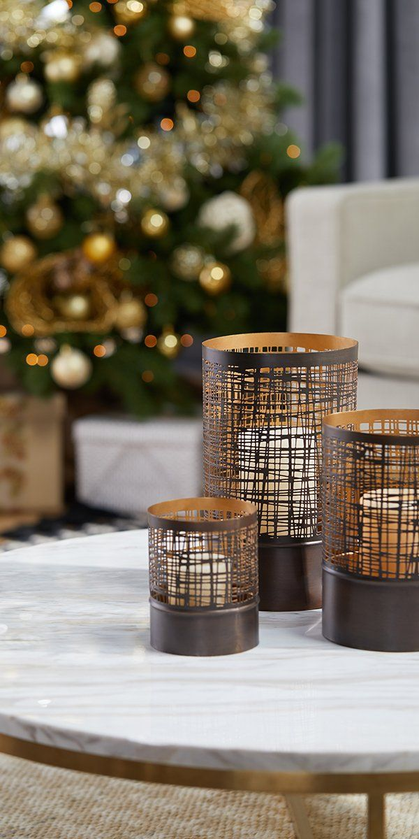 Brighten up your holiday season with ultra stylish candle-holders from Overstock, where quality home goods cost less and you'll get Free Shipping on EVERY SINGLE ORDER.* Whether you're aiming for a happy hygge home or a classic Christmas celebration, candles and candleholders add tons of charming wintertime character to any space. #candles #candleholder #christmascandles #homegoods #overstock