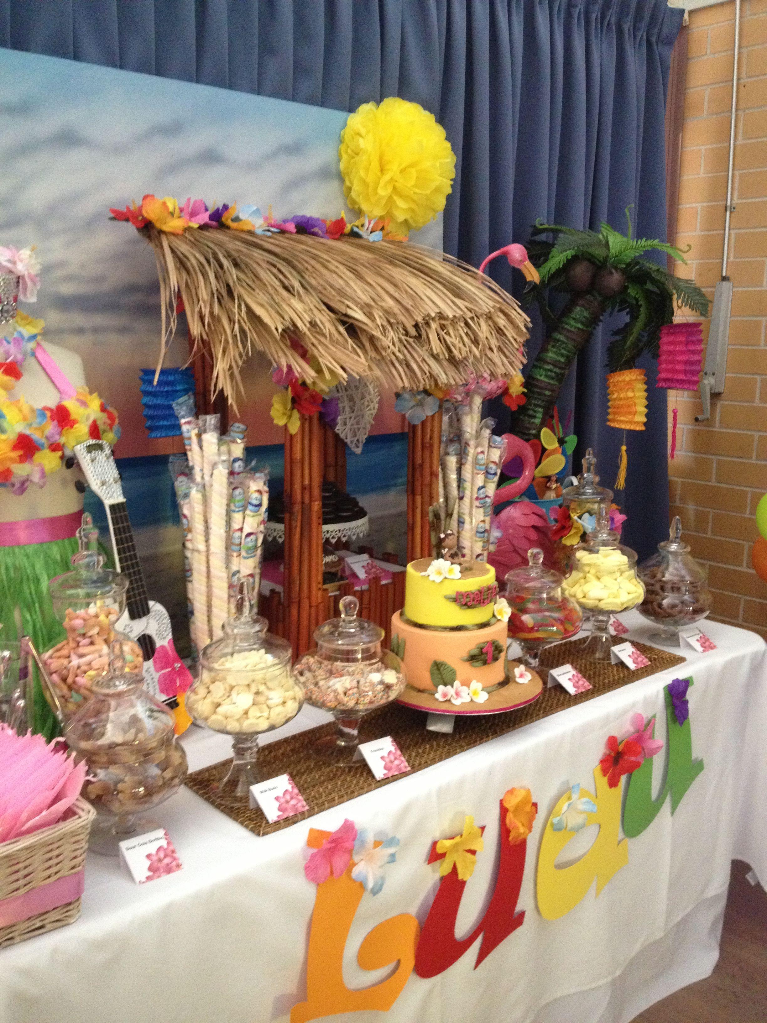 Hawaii Luau Candy Buffet Luau Party Decorations Luau Theme