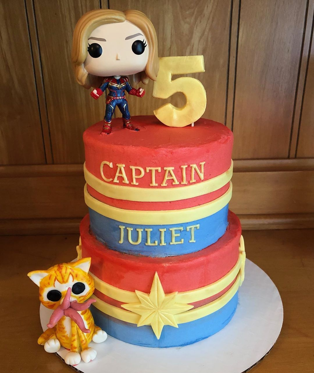 Captain Marvel Cake Complete With Flerken With Images