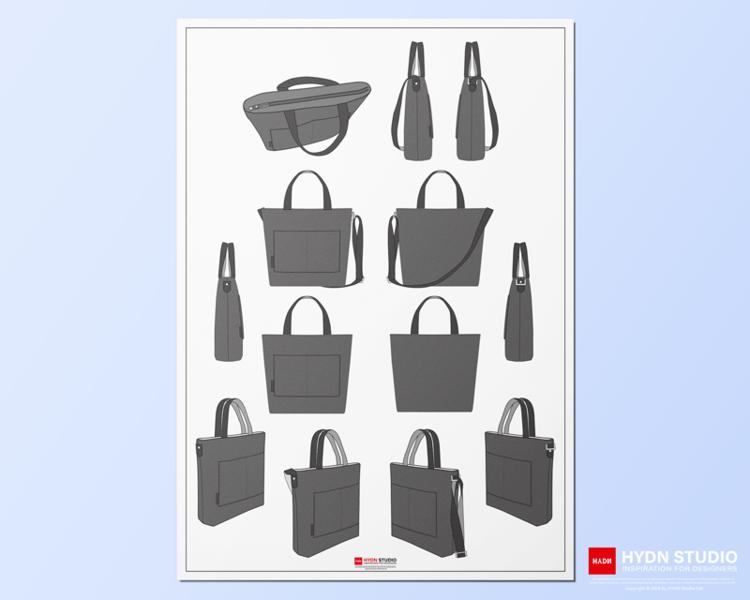 Canvas Tote Bag Vector Design Pack Hydnstudio Digital Fashion Design Store Fashion Flats In 2021 Tote Bag Canvas Design Canvas Tote Bags Tote Bag Design