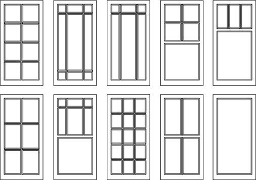 Image gallery muntin styles for Window design sketch