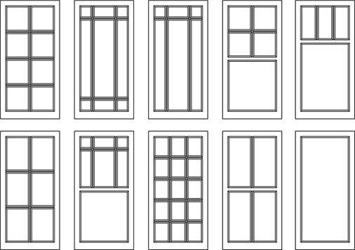 Window Muntin Designs Sliding Doors Exterior Farmhouse Windows Window Grids