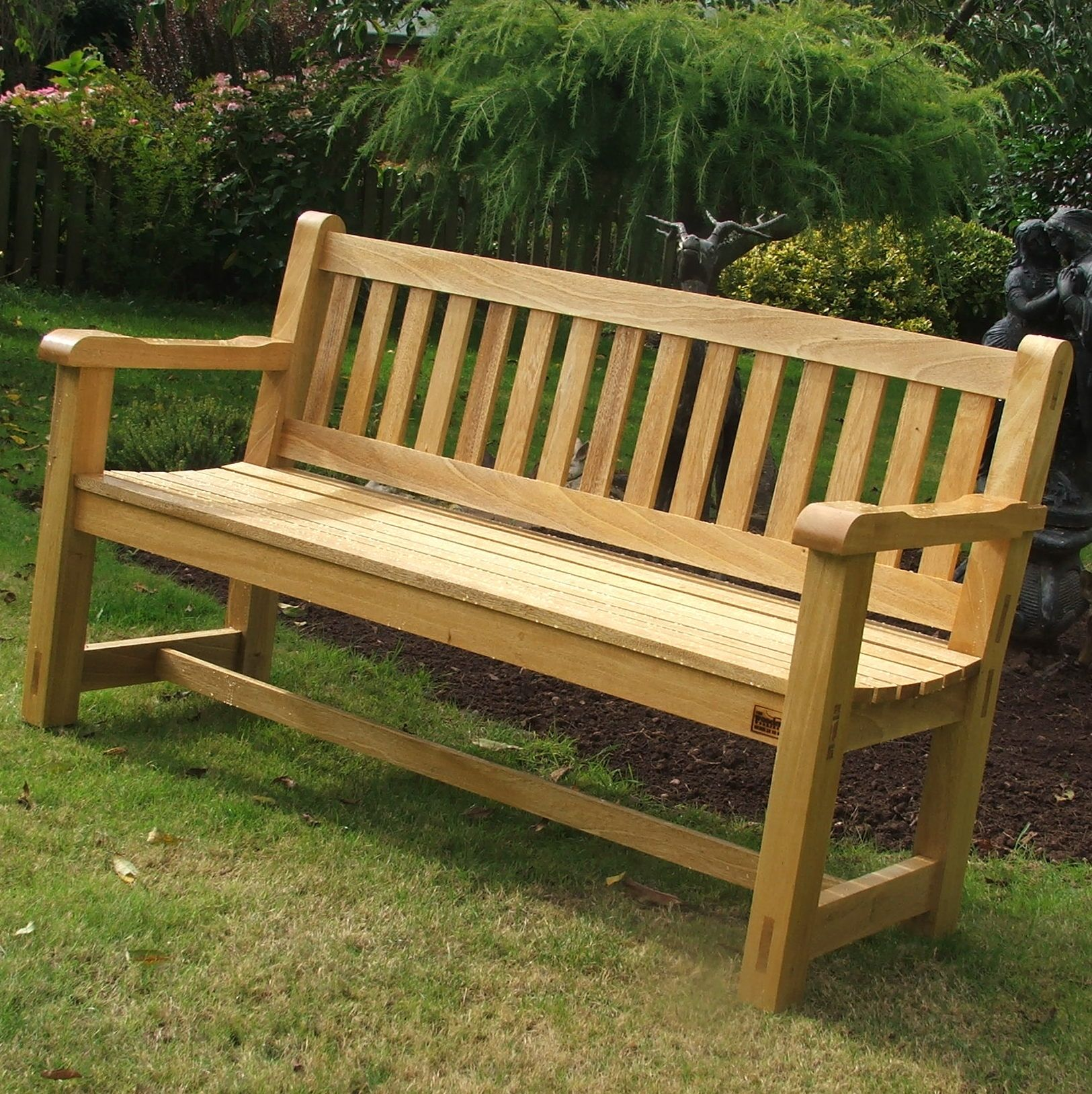 Inspiring Wooden Garden Benches #2 Wooden Garden Bench | Garden ...