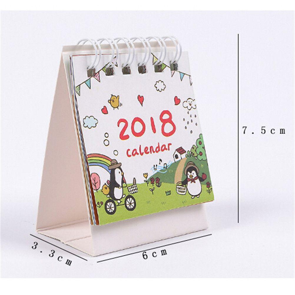 Calendario Ua.Impareggiabile Cute2017 2018 Piccolo Calendario Da Tavolo Del