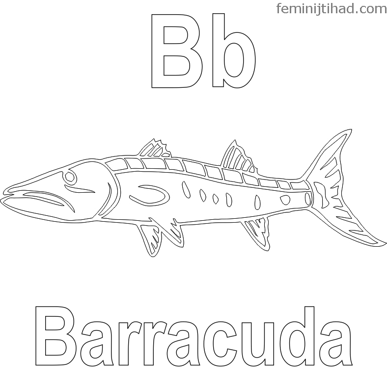 Printable Barracuda Coloring Pages Free Coloring Sheets Coloring Pages Fish Coloring Page Animal Coloring Pages