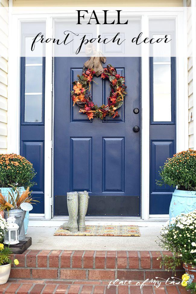 Fall front porch decor best of place of my taste pinterest puertas puertas de entrada and - Puertas para porches ...