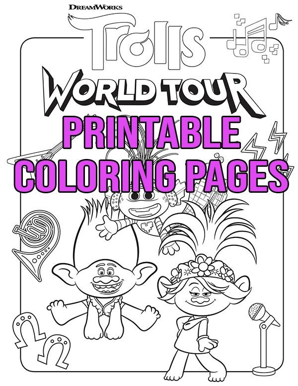 Free Printable Trolls World Tour Coloring Pages Activities In 2020 Printable Coloring Pages Coloring Pages Free Printable Coloring Pages